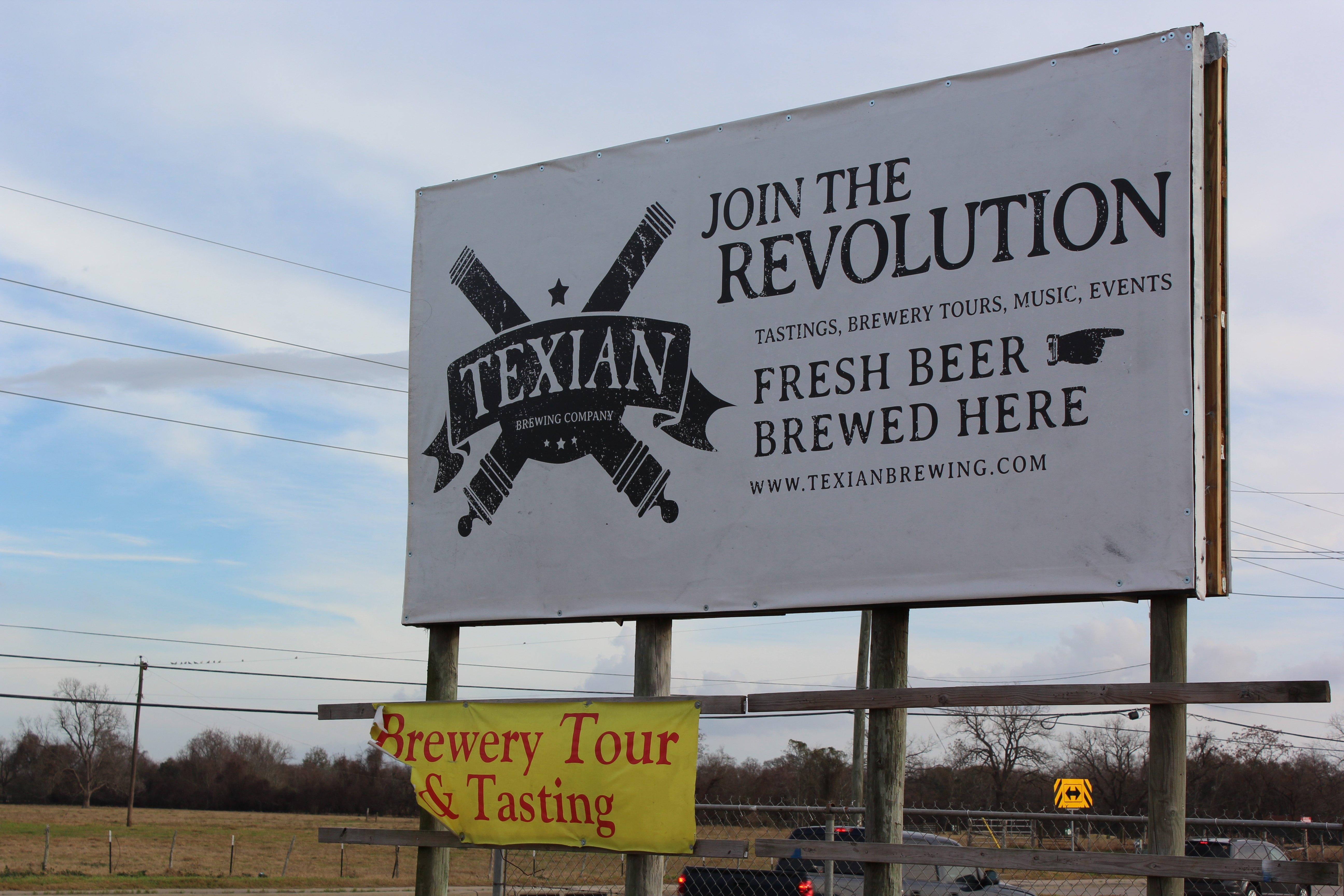 Texian Anniversary Sign